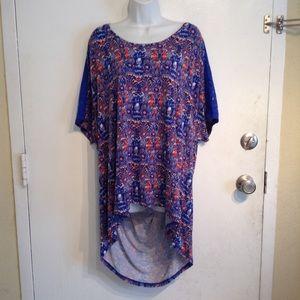 29af5f7e904b6 Dept 222 Tops - Plus Size Boho Crochet High Low Tunic Top